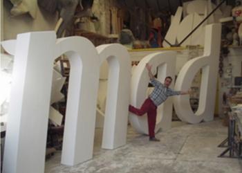 large polystyrene styrofoam letters